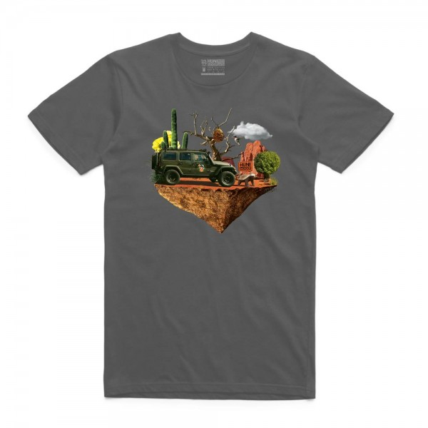 Huni Badger Adventure Tee - Asphalt