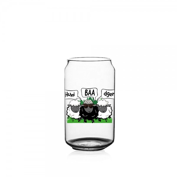 Huni Badger x BaaBaa Libbey 16oz Can Glass