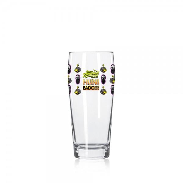 Huni Badger x Beer Zombies 16oz Willi Becher Glass