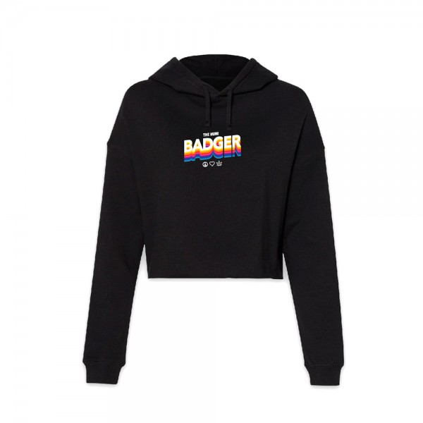 Huni Badger Crop Top Hoodie