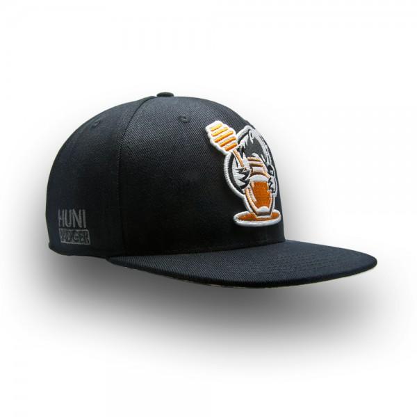Huni Badger Black / Camo Snapback Hat