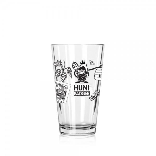 Huni Badger x Kings Brewing Co 16oz ARC Mixing Pint Glass