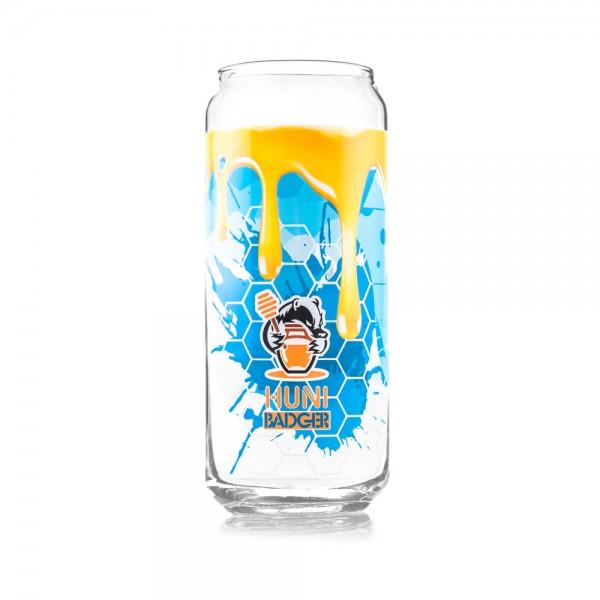 Huni Badger 16oz Tall Boy Glass - Limited