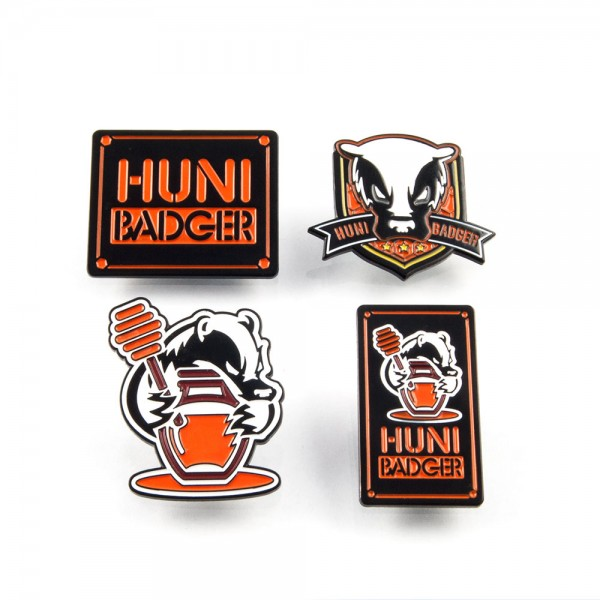 Huni Badger Enamel Pin Pack