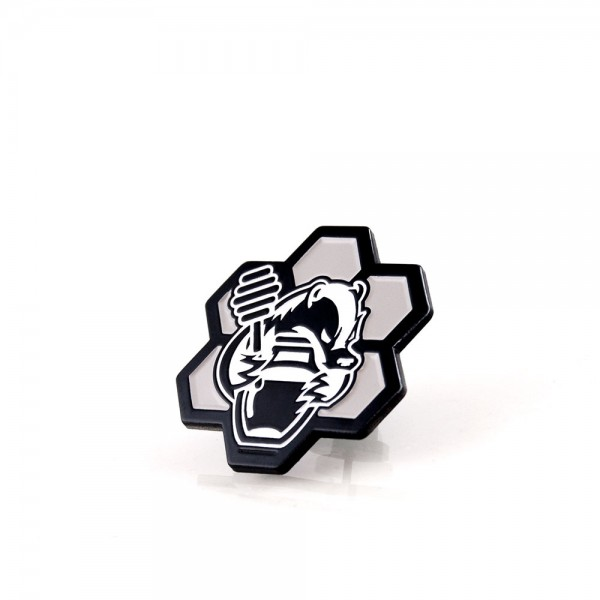HB Grey Honeycomb Pin