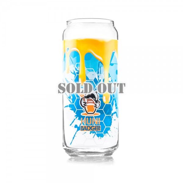 Huni Badger 16oz Tall Boy Glass - Limited