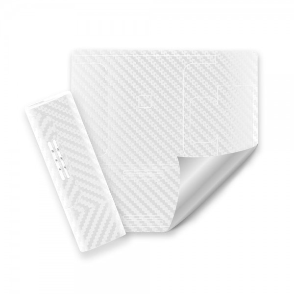 3M® White Carbon Fiber Wrap
